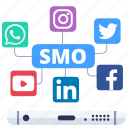 digital merketing, seo, smo, social media icon