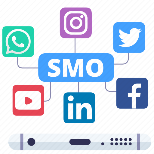 digital merketing, seo, smo, social media icon