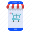 mobile, mobile marketing, mobile store, shop, smartphone icon