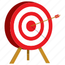 archery, business, darts, goal, target icon