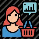 analytics, behavior, consumer, statistics icon