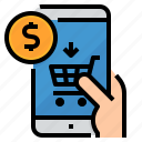cart, online, pay, payment, shopping