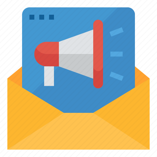 advertising, campaign, email, marketing, promotion icon