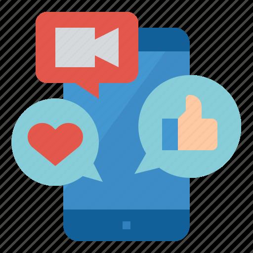 ecommerce, live, social, stream icon