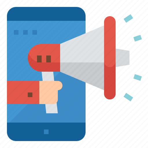 advertising, digital, marketing, mobile, promotion icon