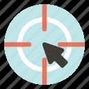 business, digital, marketing, target icon