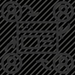 arrow, return, visitor, visitors icon