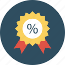 badge, discount, percentage icon