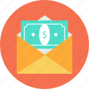 email, inbox, papermoney icon