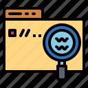 search, technology, ui, web icon