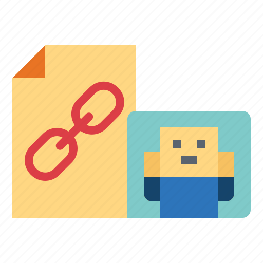 archive, document, file, linked icon
