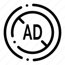 ad, blocker, digital icon