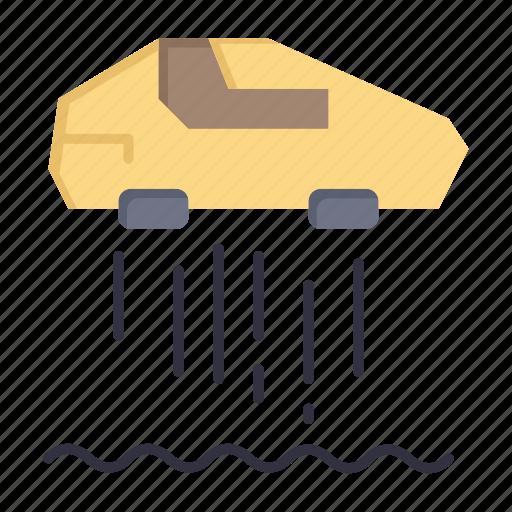 car, hovercar, personal, technolody icon
