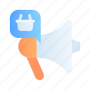advertising, business, campaign, digital, marketing, megaphone, promotion icon