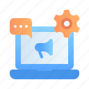 advertising, business, digital, marketing, preference, promotion, setting icon
