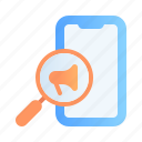 advertising, business, digital, marketing, mobile seo, promotion, search icon