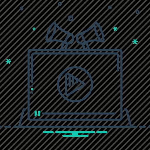 digital technology, marketing, production, technology, video, video marketing, video production icon
