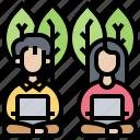 community, digital, leisure, nomad, teammate icon