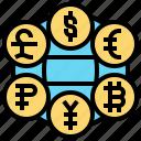 currency, exchange, financial, international, money