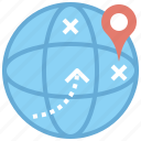 business, digital, finance, map, market, online, world icon
