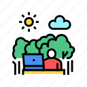 nature, remote, digital, worker, nomad, work