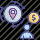 customer, loyalty, loyalty return, return, satisfied icon