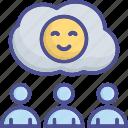 customer, emotion, happy, satisfaction, satisfied icon