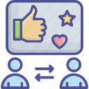 comment, customer, customer feedback, feedback, review icon