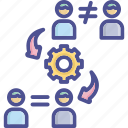 management, peace, opposition, conflict, resolution icon