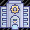 company, organization, staff, teamwork, workplace icon
