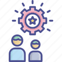achievement, effective, efficiency, successful, team effort icon