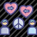 compassion, empathy, peaceful, sympathy, understanding icon