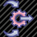 arrangement, control, cope, management, system icon