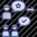 believe, consultant, popularity, suggest, values icon