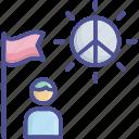 accommodation, cohesion, compromiser, harmonize, peacefully icon