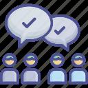 argument, conflict, disagreement, oppose, resist icon