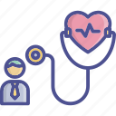 checkup, doctor, health, heart, rate icon