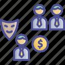 cheat, corruption, deceive, fraud, trick icon