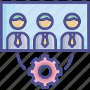 employer, labour, office, team, team management icon