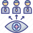 care, inspection, observation, surveillance, take icon