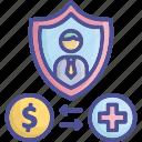 claim, compensation, insurance, request icon