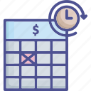 appointment, date, deadline, due, schedule icon