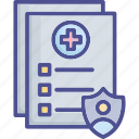 coverage, insurance, insurance file, invoice, list icon