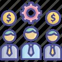 officer, organization, staff, teamwork, workmen icon