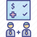 accept, agreement, compensation, coverage, welfare icon