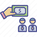 give donation, pay, payment, reward, salary icon