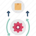 goods, manufacturing, product, production, value icon