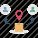 customer, distribution, market, product, target icon