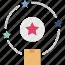 brand, guarantee, logo, product, trademark icon
