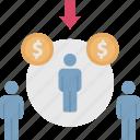 customer, market, niche, potential, target icon